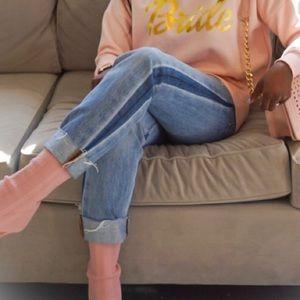Levi Crop Mom Jeans